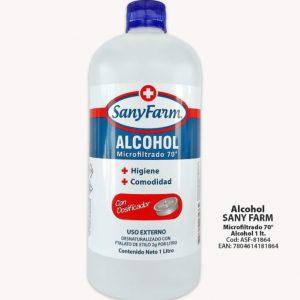 Alcohol Microfiltrado 1000 ml 70° Sanyfarm