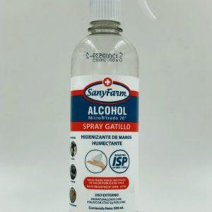 Alcohol Microfiltrado 70° Liquido 500 ML con Gatillo Sanyfarm
