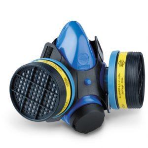 RESPIRADOR MASPROT SKY BLUE M-1.2 PVC CON FILTROS MHEA1A