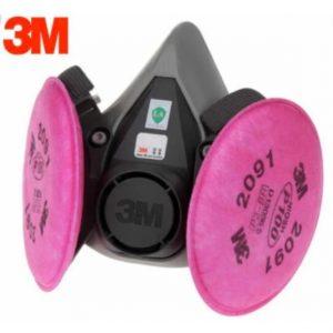 3M Respirador Reutilizable de Medio Rostro 6000 c/ filtros 2094 P100