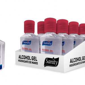 Pack Sanity Alcohol Gel 59 ml (12 Unidades)