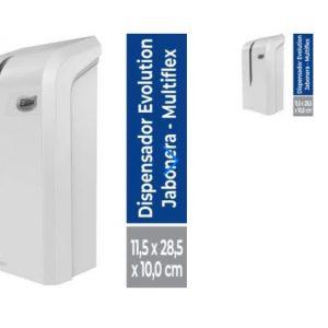 Dispensador de Jabón o Gel Multiflex Evolution Blanco 1 Un Elite Professional