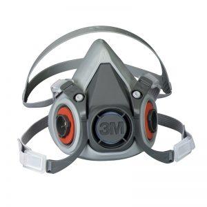 3M Respirador Reutilizable de Medio Rostro 6000 sin filtros