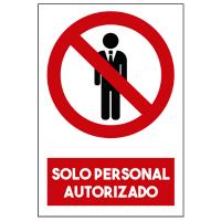 Solo Personal Autorizado - Sanitización Ambientes