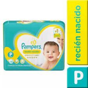Pack Pampers Premium Care Talla P+ 144 Unidades (4 Paquetes 36 un c/u)