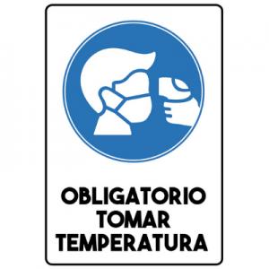 Señaletica Trovicel Obligatorio Tomar Temperatura 20 x 30