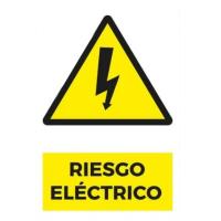 Señaléticas 20x30 Autoadhesivas - RIESGO ELECTRICO